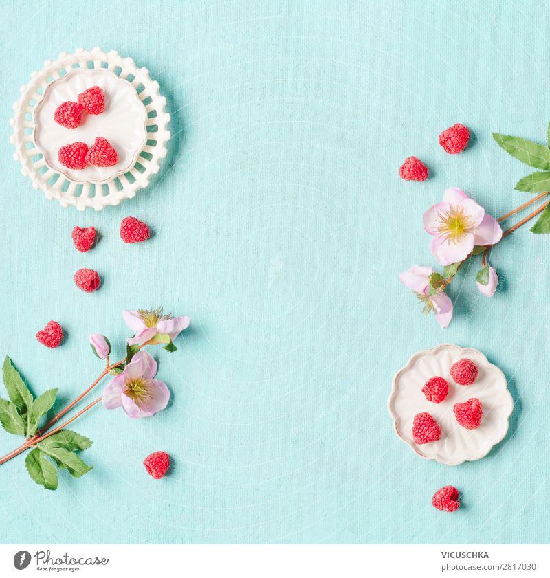 Himbeeren Hintergrund Lebensmittel Frucht Dessert Ernährung Stil Design Gesunde Ernährung Sommer Häusliches Leben Coolness rosa Hintergrundbild Vitamin