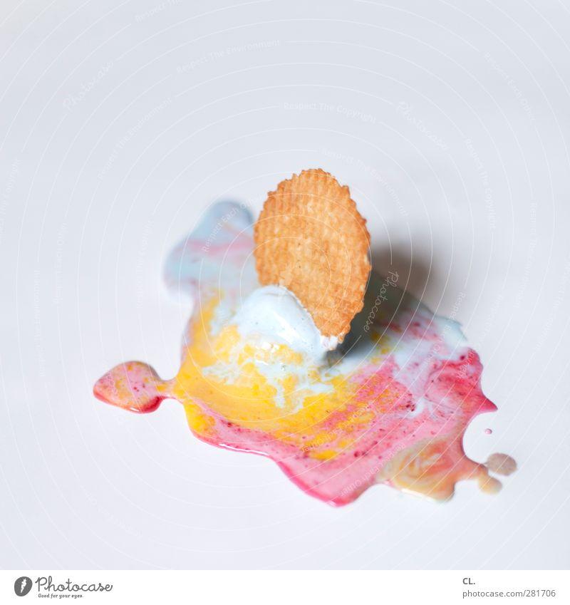 eis blau Sommer rot Sonne gelb Wärme kalt Essen rosa Lebensmittel dreckig Ernährung Speiseeis Boden süß Sauberkeit
