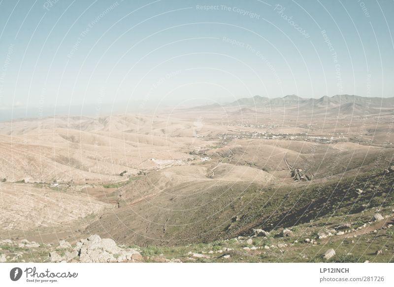 F.Ventura Natur Ferien & Urlaub & Reisen Sommer Einsamkeit Landschaft Ferne Berge u. Gebirge Umwelt Freiheit Stein Sand Tourismus Insel Ausflug Schönes Wetter