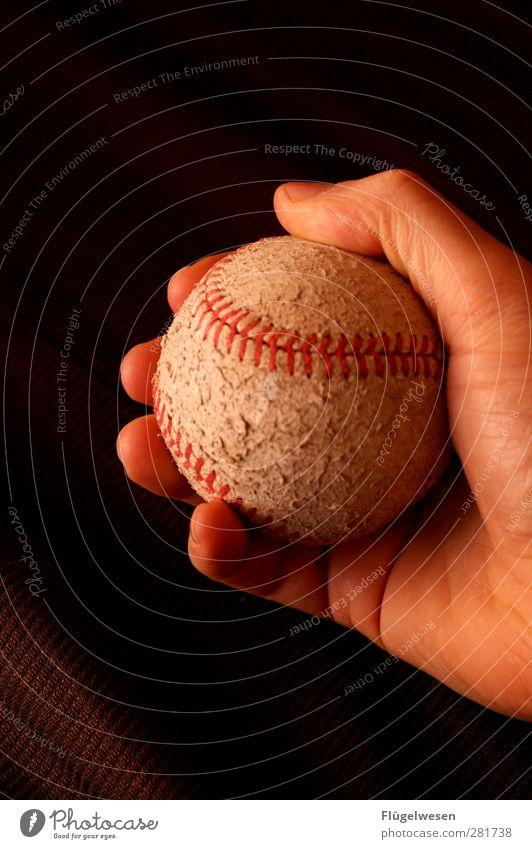 Amerikanischer Sport Fitness Sport-Training Ballsport Sportler maskulin Arme Hand Spielen Freizeit & Hobby Freude Baseball Baseballmütze Baseballschläger