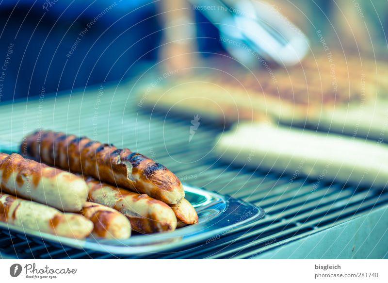 Würstchen grün Sommer Party Essen braun Lebensmittel lecker Grillen Wurstwaren