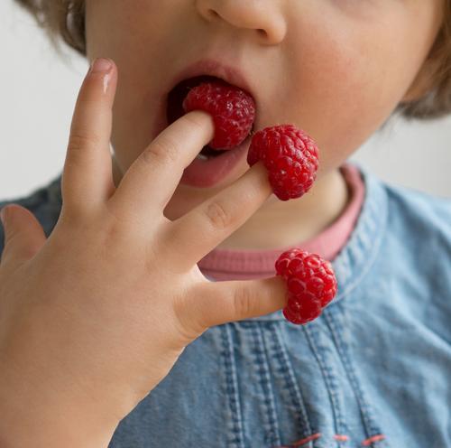 Haps Lebensmittel Frucht Süßwaren Essen Fingerfood Gesundheit Gesunde Ernährung Zufriedenheit Ferien & Urlaub & Reisen Sommer Kind Kindheit Hand 3-8 Jahre