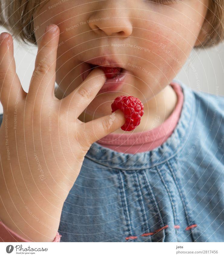 Leckerbissen Lebensmittel Frucht Süßwaren Essen Fingerfood Gesunde Ernährung Zufriedenheit Sommer Kind Mädchen Kindheit Hand 1 Mensch 3-8 Jahre genießen frech