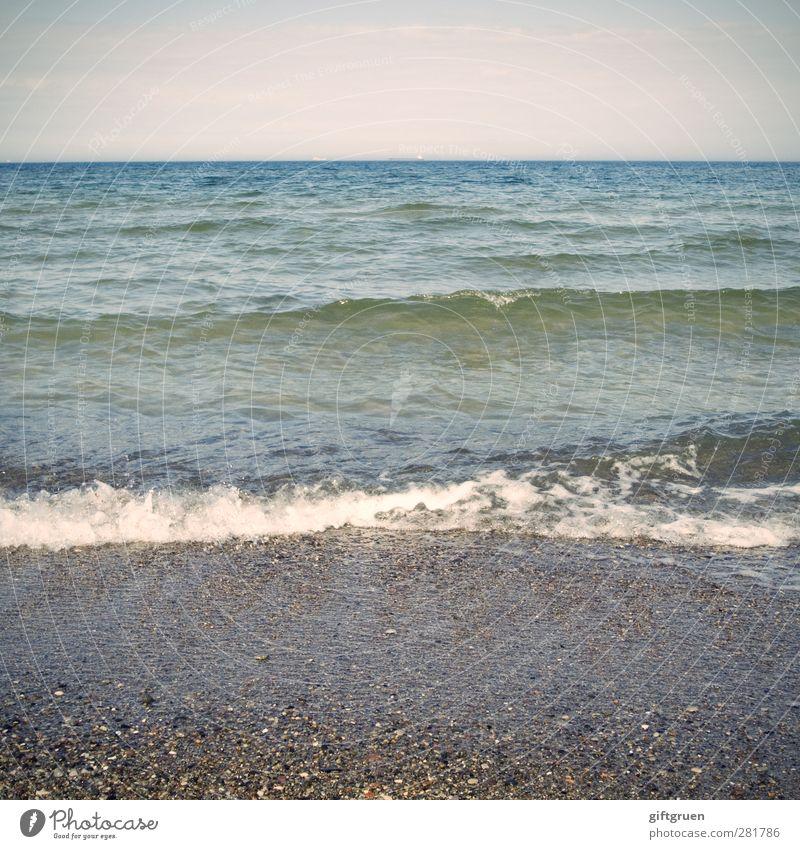 der gang der dinge Umwelt Natur Landschaft Urelemente Wasser Himmel Horizont Sommer Wetter Schönes Wetter Wellen Küste Strand Meer Bildschirmfoto Wellengang