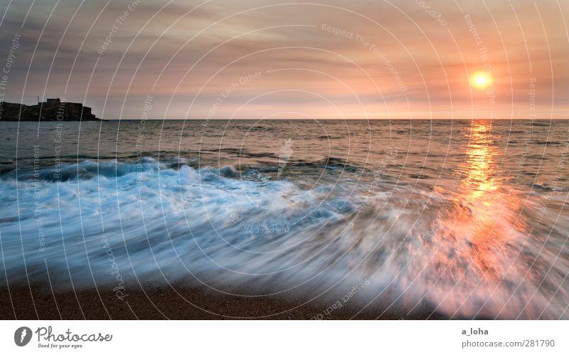 Sao Lourenco Sunset Natur Urelemente Wasser Himmel Wolken Horizont Sonnenaufgang Sonnenuntergang Sommer Schönes Wetter Wellen Küste Strand Bucht Meer Fernweh