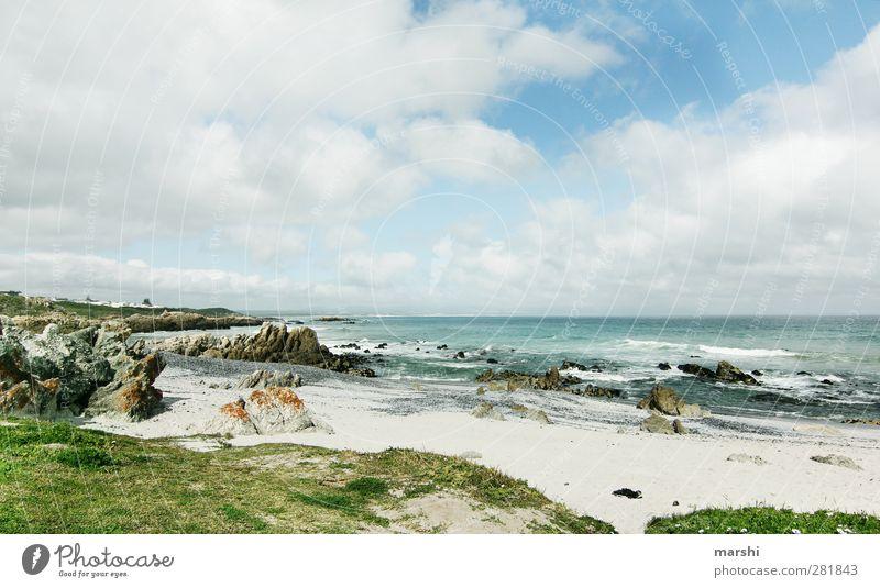 und vor uns - nur Ozean Himmel Natur Wasser Sommer Pflanze Meer Wolken Landschaft Erholung Ferne Gefühle Frühling Küste Sand Felsen Stimmung