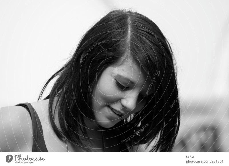 ...STEFFI... Mensch feminin Mädchen Junge Frau Jugendliche Kopf Haare & Frisuren Gesicht 1 13-18 Jahre Kind schwarzhaarig Scheitel Freude Glück Fröhlichkeit