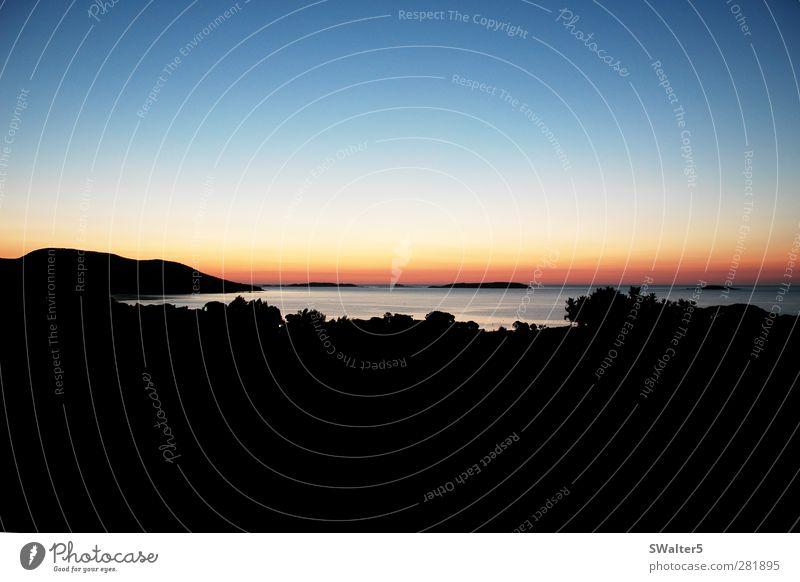 Sonnenaufgang auf Korsika Ferien & Urlaub & Reisen Sommer Sommerurlaub Strand Meer Insel Landschaft Sonnenuntergang Schönes Wetter Küste Bucht Mittelmeer