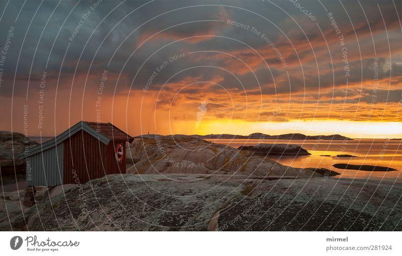 Schweden-Westküste Himmel Wasser Sommer Wolken Landschaft Erholung Idylle Frieden Gelassenheit