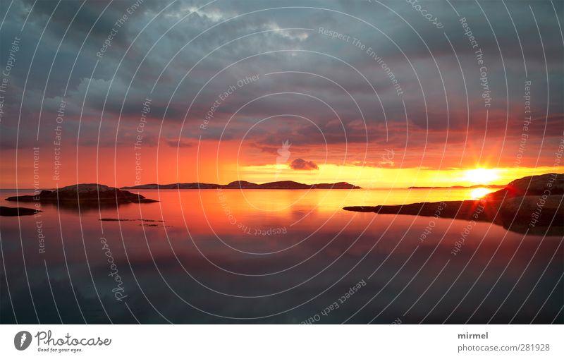 Sonnenuntergang an Schwedens Westküste Himmel Natur Wasser Sommer Landschaft Zufriedenheit ästhetisch