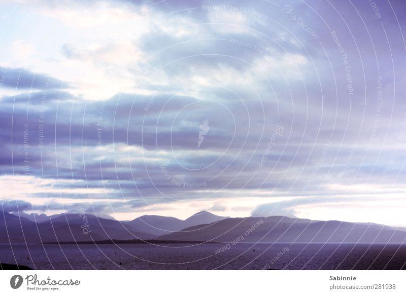 [Skye 04] Am Abend Himmel Natur blau Ferien & Urlaub & Reisen schön Sommer Sonne Meer Wolken Umwelt Berge u. Gebirge Gefühle Horizont Felsen außergewöhnlich