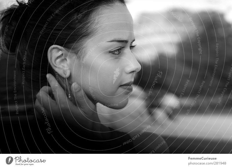 Femme française VI. Mensch Frau Jugendliche schön Erwachsene Gesicht Junge Frau feminin Haare & Frisuren Kopf 18-30 Jahre Park ästhetisch beobachten einzigartig