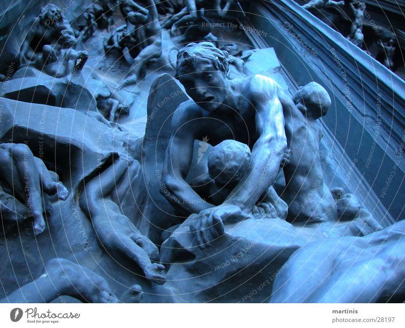"""""""höllentor"""" zürich Hölle Kunst Skulptur Bildhauerei Handwerk blau Traurigkeit"""