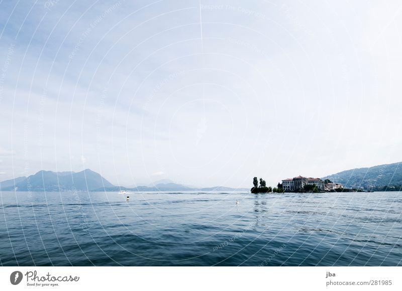 Borromäische Inseln 3 Himmel Natur blau alt Wasser weiß Sommer Wolken Landschaft Erholung Ferne See Luft Nebel nass