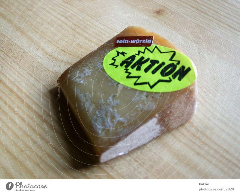 aktionskäse Ernährung Holz Tisch Aktion Etikett Käse Schreibwaren
