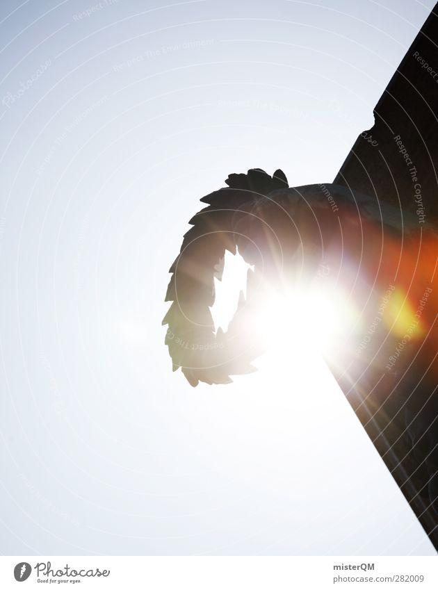 Ruhm. Kunst ästhetisch Lorbeer Image Ehre Erfolg Erfolgsaussicht Preisverleihung Denkmal historisch Skulptur Siegermacht Macht Machtkampf Kranz Farbfoto