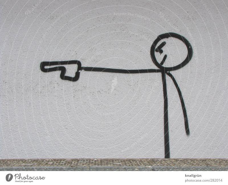Böse Stadt weiß schwarz Graffiti Tod Wand Gefühle Mauer Kunst Fassade Angst stehen gefährlich Macht Coolness bedrohlich
