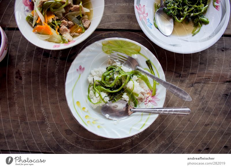 kambodschanisches essen. Reisefotografie Lebensmittel Gesunde Ernährung genießen Gemüse Kräuter & Gewürze Asien lecker Geschirr Teller Fleisch Messer