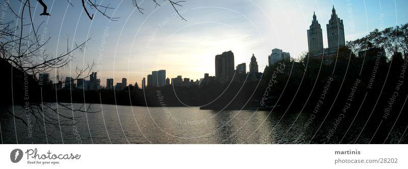 central park See Park groß Hochhaus New York City Panorama (Bildformat) Nordamerika Central Park