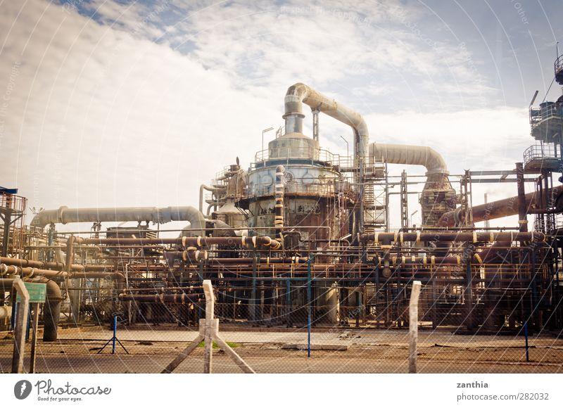 Industry alt Business Kraft Klima Ordnung Energie Zukunft modern Wandel & Veränderung Industrie Netzwerk Industriefotografie Fabrik Röhren Stress Rost