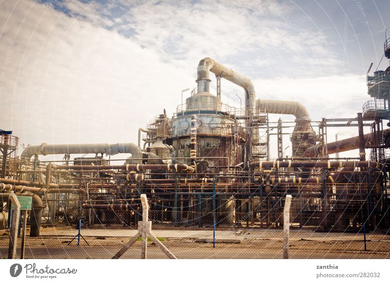 Industry Menschenleer Industrieanlage Fabrik alt Stress Business chaotisch Energie Fortschritt Klima Kraft Krise modern nachhaltig Netzwerk Ordnung