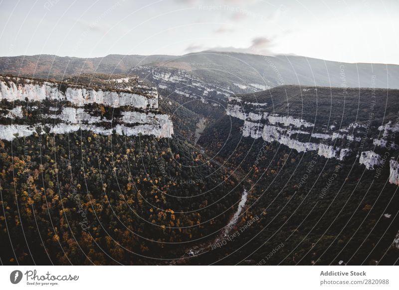 Kleiner Fluss, der zwischen den Klippen fließt. Natur Landschaft Felsen Wasser Aussicht