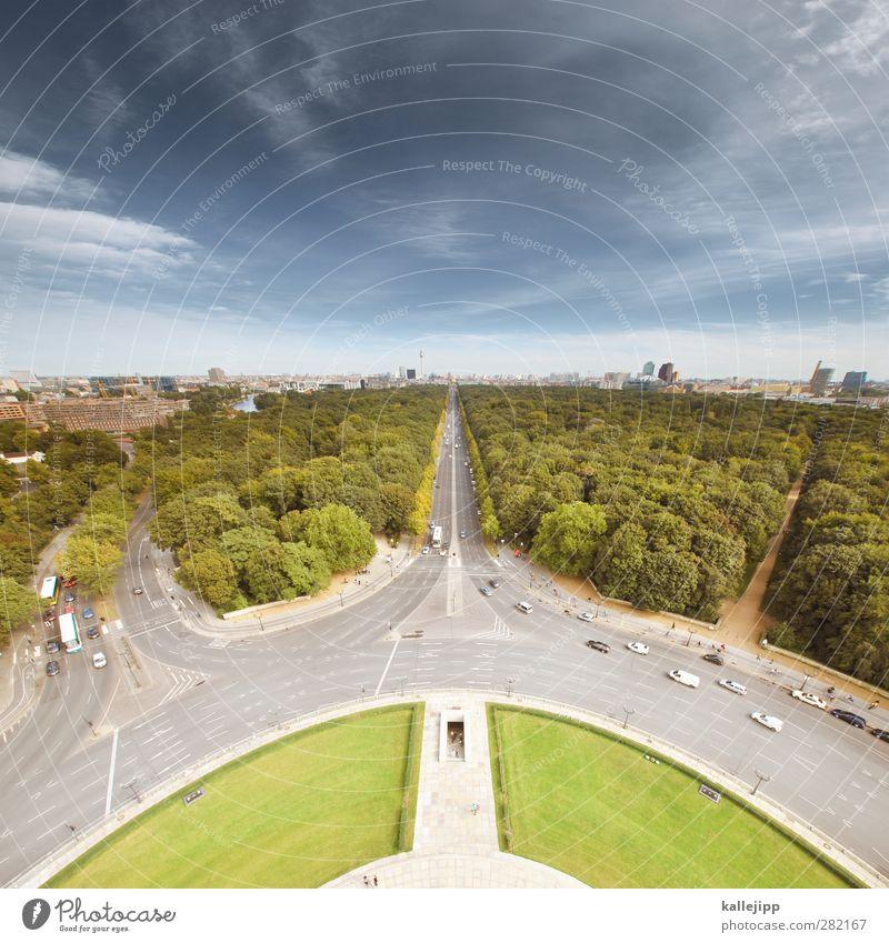 spreeperle Umwelt Natur Landschaft Himmel Horizont Schönes Wetter Pflanze Baum Park Wiese Stadt Hauptstadt Sehenswürdigkeit Wahrzeichen Verkehr Verkehrswege