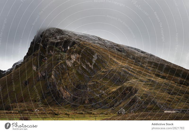 Blick auf den Herbstberg Berge u. Gebirge Pflanze Hügel Felsen Natur Landschaft Jahreszeiten schön natürlich mehrfarbig rot Orange Länder Blatt Wald ländlich