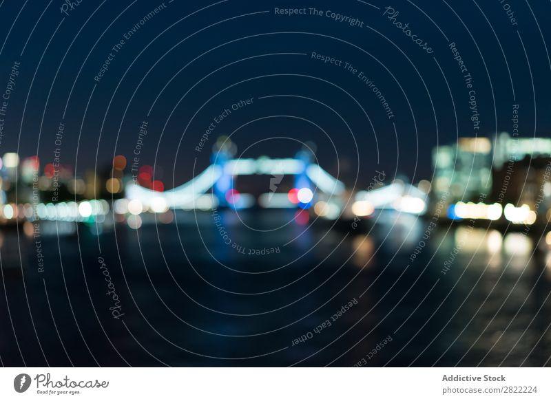 Erstaunliches Stadtbild bei Nachtlicht Skyline Stauanlage Tourismus London England Ferien & Urlaub & Reisen Panorama (Bildformat) Dämmerung Landschaft Flussufer