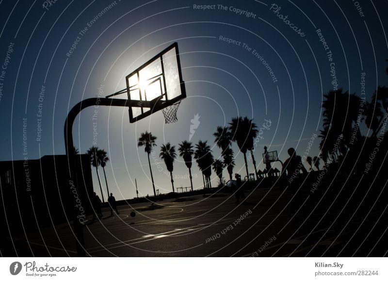 Ferien & Urlaub & Reisen blau schön Strand Sport Spielen springen Horizont Park elegant Geschwindigkeit genießen Fitness Abenteuer sportlich Sommerurlaub