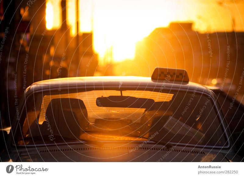 Taxi Beruf Taxifahrer Arbeitsplatz Mensch maskulin Mann Erwachsene 1 30-45 Jahre Printmedien Zeitung Zeitschrift Buch lesen Herbst Stadt Verkehr Fahrzeug sitzen