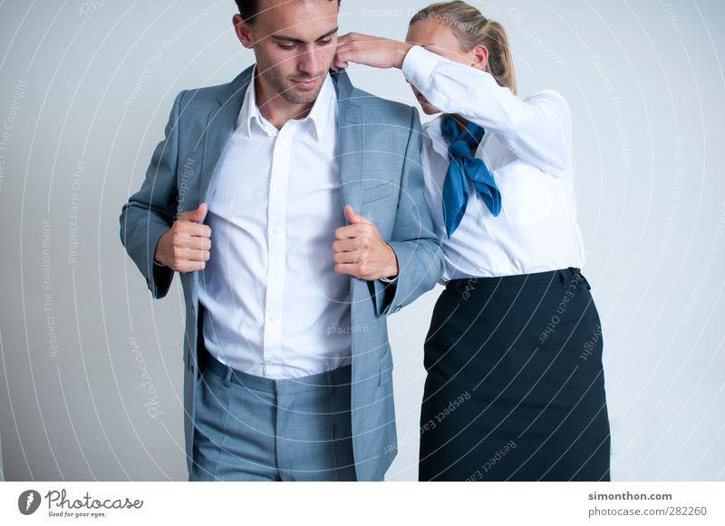 Geschäftsmann und Sekretärin Mensch Jugendliche Junge Frau Junger Mann 18-30 Jahre Erwachsene Stil Business Arbeit & Erwerbstätigkeit Büro elegant Erfolg