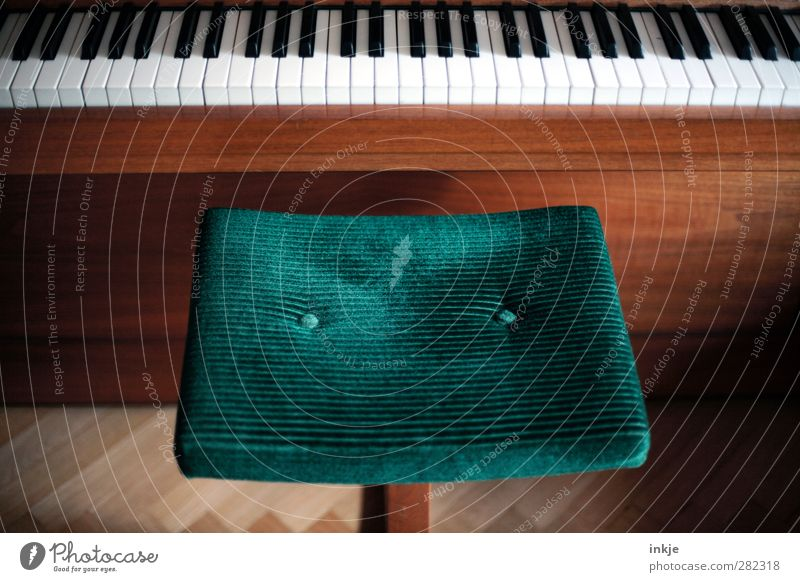 Sitzgelegenheit | Chopin zum Frühstück Lifestyle Stil Freizeit & Hobby Spielen Häusliches Leben Raum Klavierschemel Bildung Musik Hocker Cord grün Gefühle