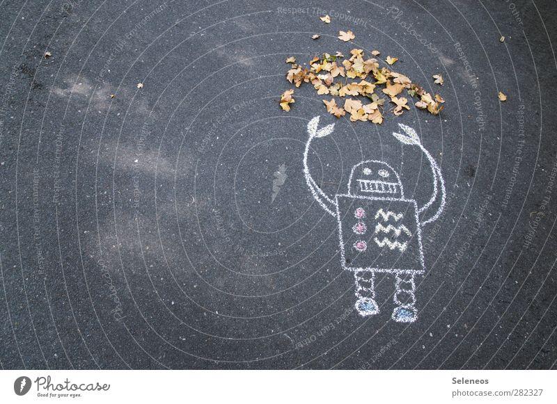 Juhu, Herbst! Zufriedenheit Freizeit & Hobby Kindergarten Technik & Technologie Roboter Umwelt Natur Klima Wetter Pflanze Blatt Beton Freundlichkeit