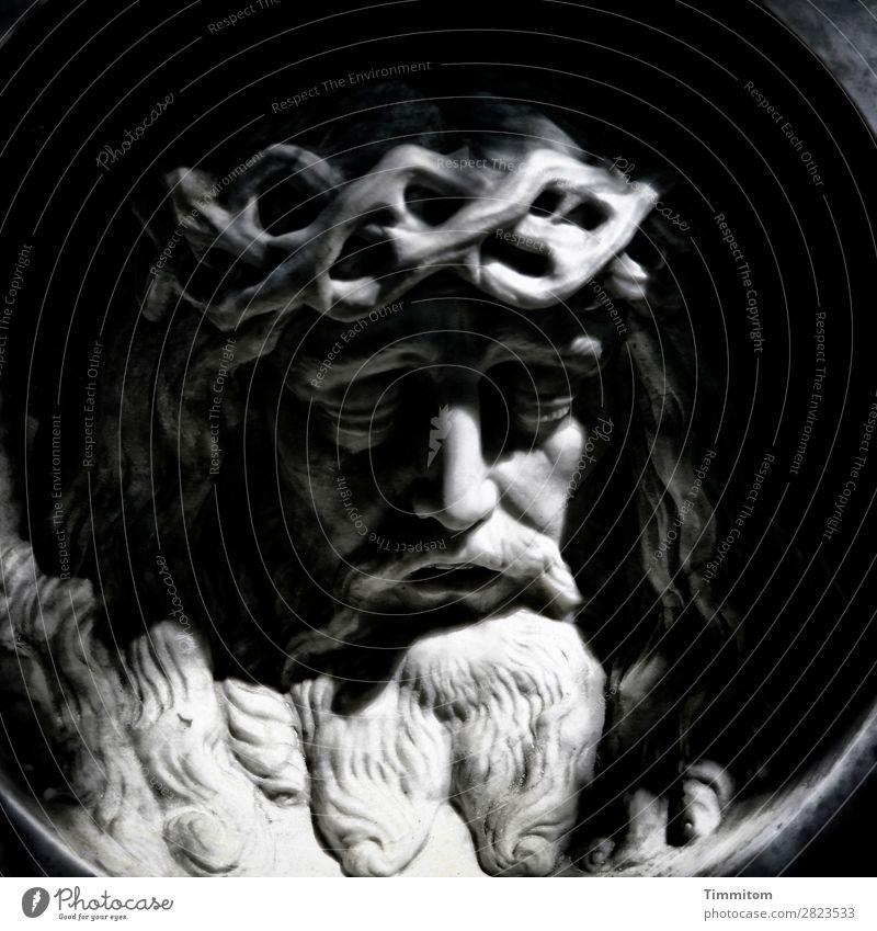 Gedankenspiel | ... Stein ästhetisch grau schwarz weiß Gefühle Stimmung Hoffnung Religion & Glaube Tod Trauer Friedhof Grab Grabstein Marmor Büste Ostern