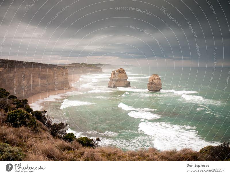 Great Ocean Road Ferien & Urlaub & Reisen Tourismus Ferne Freiheit Wellen Natur Landschaft Himmel Wolken Gewitterwolken schlechtes Wetter Unwetter Wind Sturm
