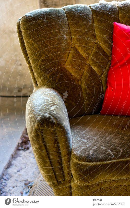 Sitzgelegenheit | Chamansülzsessel Häusliches Leben Wohnung einrichten Innenarchitektur Dekoration & Verzierung Sessel Polstersessel Kissen alt weich grün rot
