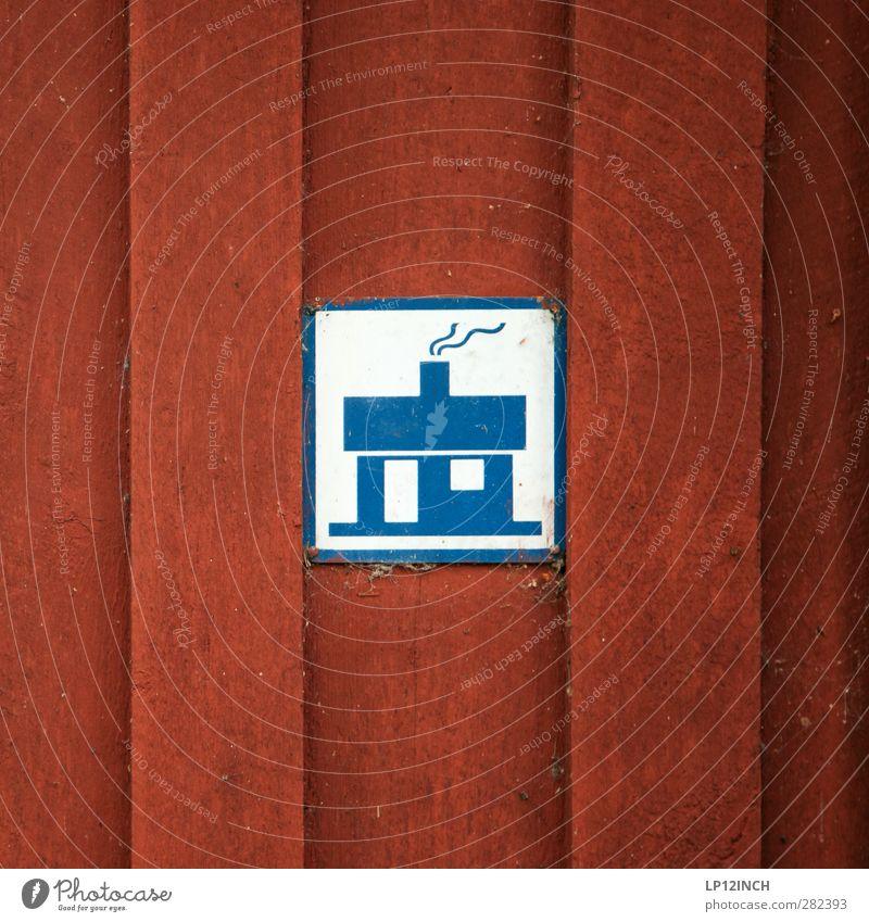Schwedisches-Asyl-Recht Ferien & Urlaub & Reisen Stadt rot Haus Ferne Raum Häusliches Leben Tourismus wandern Schilder & Markierungen Hinweisschild niedlich