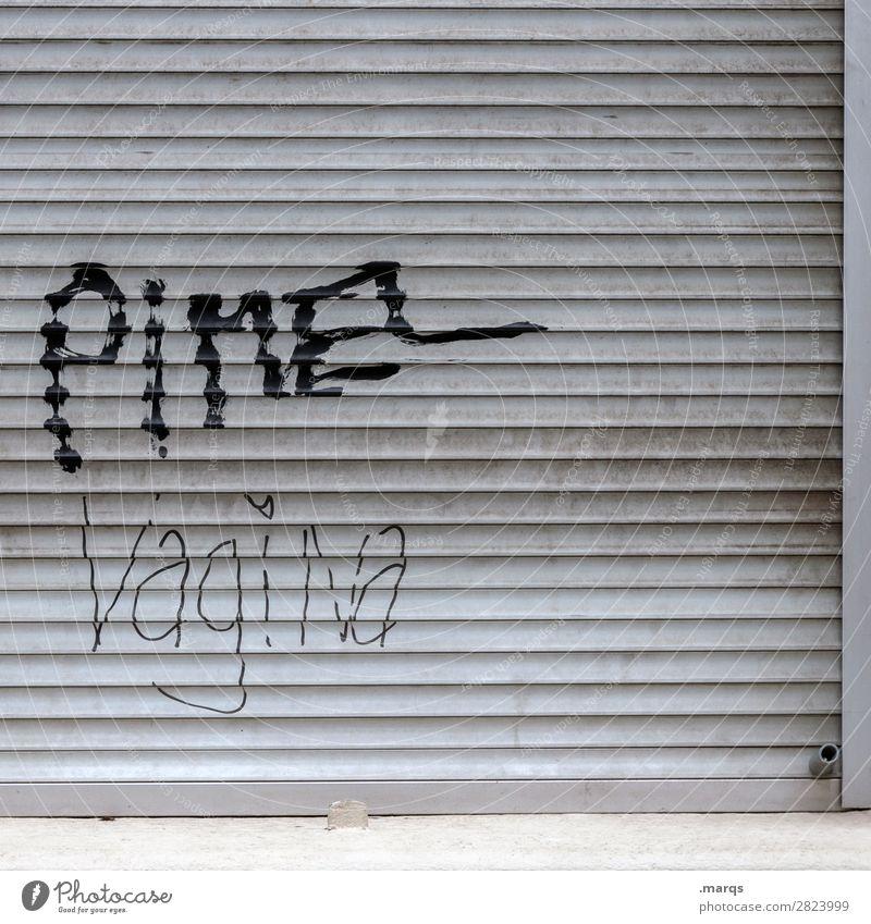 Pimel Vagina Rollladen Schriftzeichen Sex Sexualität Penis Scheide Pubertät Geschlecht Graffiti Sexuelle Neigung Farbfoto Außenaufnahme Strukturen & Formen
