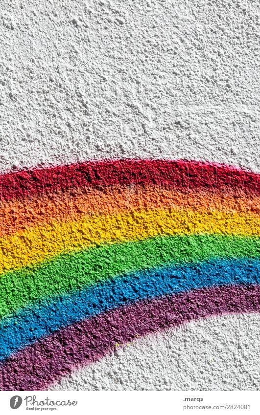 Regenbogen weiß Wand Mauer einfach spektral