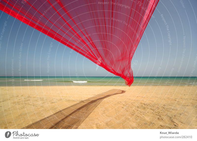 Playa Sotavento auf Fuerteventura Himmel Natur Wasser Ferien & Urlaub & Reisen Sommer Sonne Meer Strand Einsamkeit Landschaft Ferne Freiheit Sand Wellen Insel