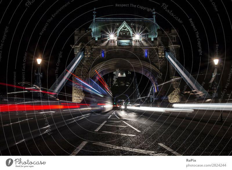 Tower Bridge bei Nacht Ferien & Urlaub & Reisen Tourismus Sightseeing Städtereise Nachtleben Handel Güterverkehr & Logistik Architektur Umwelt Natur London