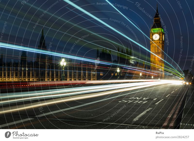 Abend auf der Westminster Bridge. Ferien & Urlaub & Reisen Tourismus Sightseeing Städtereise Wirtschaft Architektur Umwelt Landschaft Himmel Nachthimmel Klima