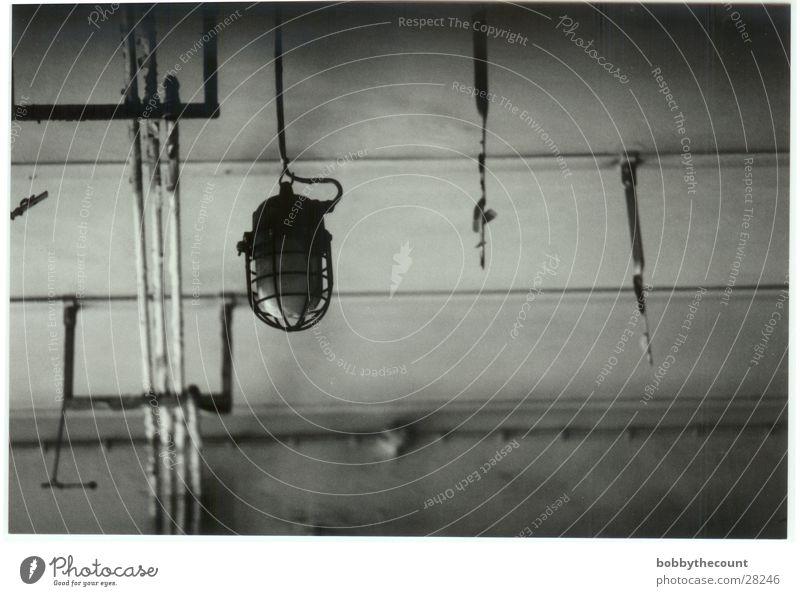 Industrie Lampe Stil Kontrast Schwarzweißfoto Stylistisch