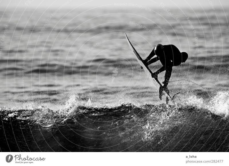Traffic In The Sky Mensch Natur Wasser Freude Umwelt Sport Bewegung Küste Wellen Kraft nass Lifestyle Urelemente sportlich Surfen Fernweh