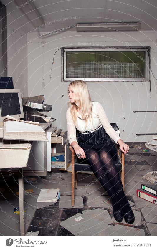 #242656 Mensch Frau Jugendliche schön Erwachsene Stil Mode Büro 18-30 Jahre Arbeit & Erwerbstätigkeit Computer Raum blond Wohnung warten lernen