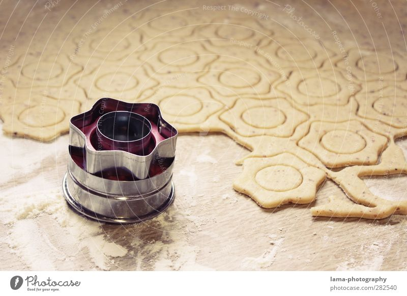 Weihnachtsbäckerei Teigwaren Backwaren Plätzchen Weihnachtsgebäck Weihnachten & Advent Stern lecker süß Weihnachtsstern Stern (Symbol) Farbfoto