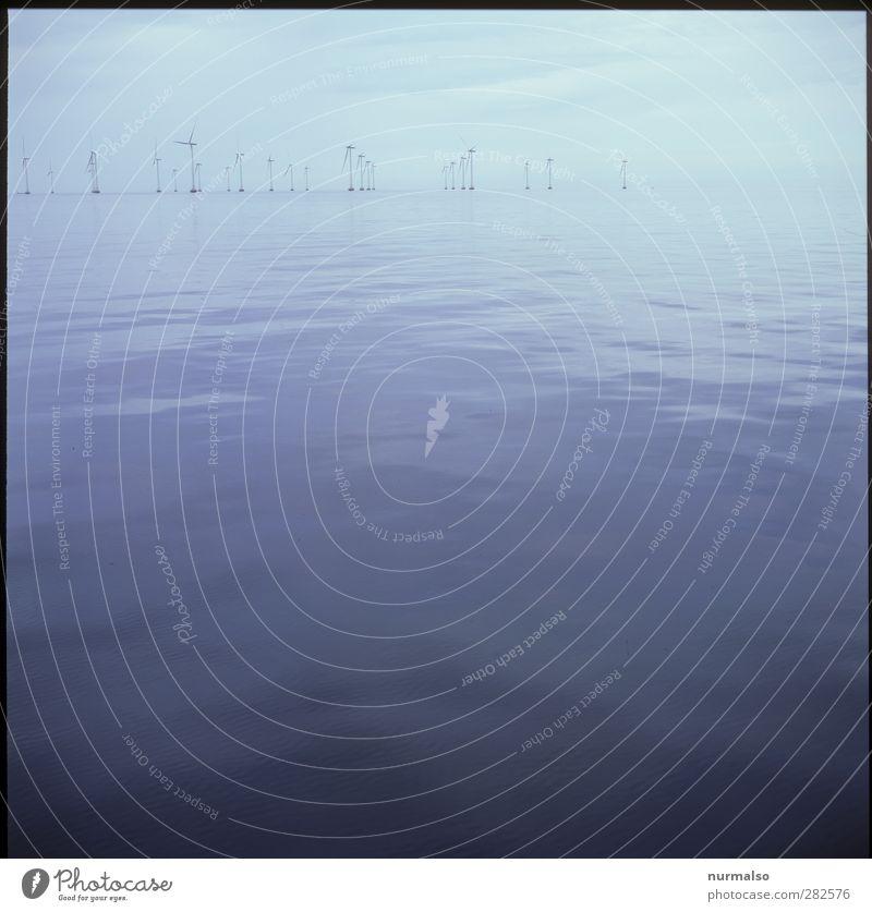 offshorewindpark Freizeit & Hobby Ausflug Ferne Kreuzfahrt Segeln Energiewirtschaft Erneuerbare Energie Windkraftanlage Landschaft Wasser Wellen Ostsee