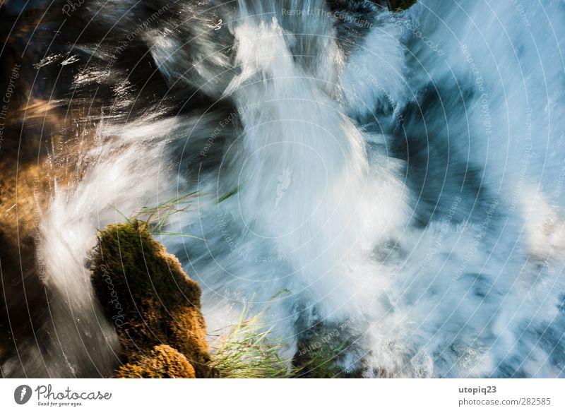 colour rush Wasser Bach Wasserfall Krka Stein Aggression ästhetisch natürlich Geschwindigkeit Erfolg Kraft Willensstärke Tatkraft gefährlich Abenteuer Bewegung