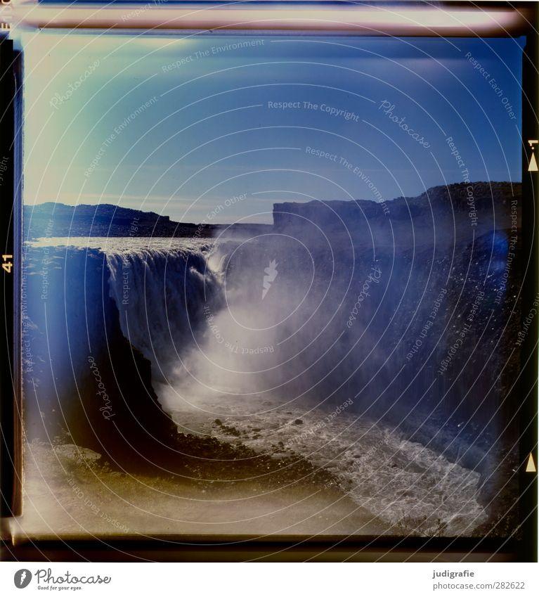 Island Umwelt Natur Landschaft Wasser Felsen Berge u. Gebirge Schlucht Wasserfall Dettifoss außergewöhnlich gigantisch kalt nass natürlich wild Stimmung Klima